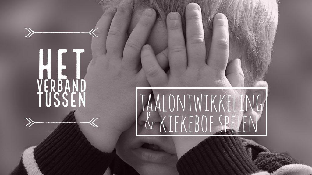 verband tussen taalontwikkeling en kiekeboe spelen
